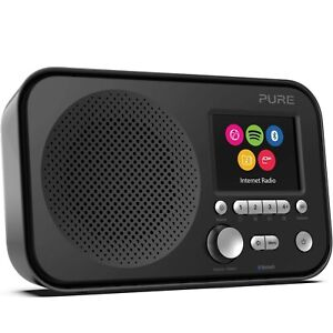New Pure Elan IR5 Portable Smart Internet Radio with Bluetooth & Spotify - Black