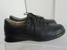 FINN COMFORT GERMANY Mens BLACK LEATHER CASUAL DRESS SHOES SIZE 7 M
