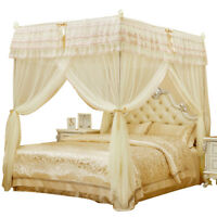 Embroidered Mosquito net with frame Bed decoration canopy Help sleep Queen king
