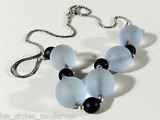 WMF Myra Glas Silber Kette ° Ikora Era ° art deco glass silver necklace