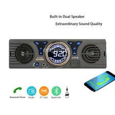 TF SD 12V AUX 1 Din USB Stereo MP3 Player Car Radio Bluetooth In-Dash Speaker FM