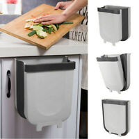 Hanging Trash Garbage Rubbish Bin Foldable Kitchen Cabinet Waste Container Can