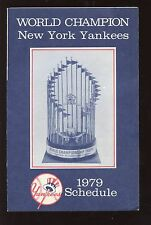 1979 New York Yankees Baseball Schedule EXMT