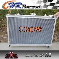 3 ROW 52MM FOR Aluminum Radiator NISSAN SKYLINE S13 CA18 R32 RB20