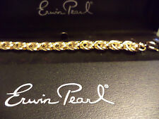 """7.5"""" New With Tags Erwin Pearl Chain Bracelet"""