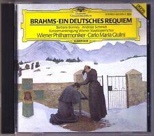 GIULINI: BRAHMS Ein Deutsches Requiem CD Barbara BONNEY Andreas SCHMIDT A German