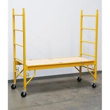 NEW! PORTABLE HEAVY DUTY SCAFFOLD DRYWALL PAINTING ADJUSTABLE HOLDS UP TO 900 LB