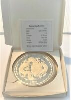 2012 YEAR OF THE DRAGON 5oz Silver Proof Coin RAM Issue.