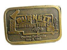 1983 Burnett Construction Co.Coalinga Earthquake Boucle Ceinture par Frappé