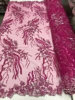 Sequin Embroidered Lace Royal King Antique Fabric Vivian
