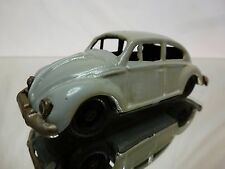 TIN TOY BLECH VW VOLKSWAGEN BEETLE OVAL WINDOW - GREY L10.0cm - GOOD CONDITION