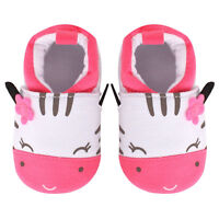 NEW Baby Girls Pink Zebra First Walker Soft Sole Crib Shoes 6-12 M 12-18 Months