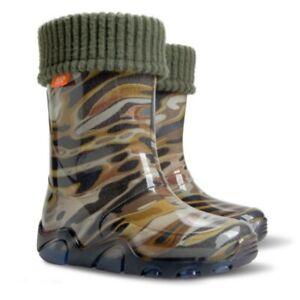 Kids Boys Wellington Boots Wellies Rainy Boots Camouflage Camo All sizes