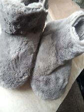 Joules cabina Luxe Soft Grey Zapatillas Botas Talla S Talla 3/4