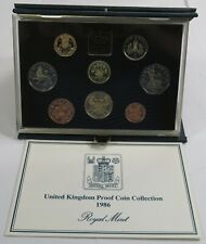 1986 Uk Proof Coin Collection Set #23990L