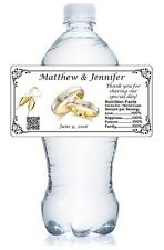 20 PERSONALIZED WEDDING WATER BOTTLE LABELS WATERPROOF GLOSSY PARTY FAVORS