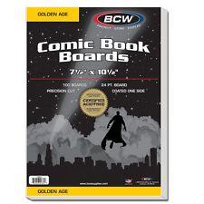 300 BCW Golden Comic Backing Boards - Acid Free - White