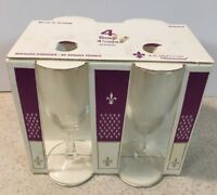 Vtg Set of 4 J.G. Durand Sour Cordial Glasses D'Arques France Noblesse Stemware