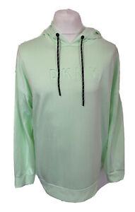 DKNY Sport Ladies Neo Mint Green Hoodie / Sweatshirt Size Large UK 18/20
