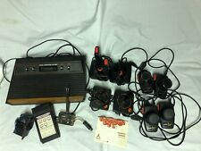 Atari Console Untested 4 Controllers 2 Paddles Power Supply AV Switch