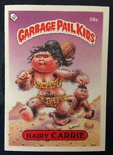 Hairy Carrie 56a UK Garbage Pail Kids Series 2(1986)Puzzle Piece Back~NMT/MINT