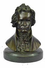 """Bronze Bust Sculpture of Ludwig van Beethoven 8.5"""" x 6"""""""