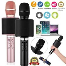 Wireless Bluetooth Karaoke Microphone Speaker Handheld Mic SD Player with Selfie
