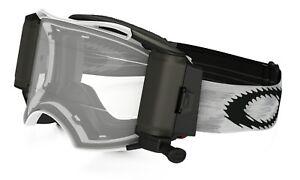 Oakley Airbrake Motocross Roll Off Goggle Matte White Clear Lens Free UK Post