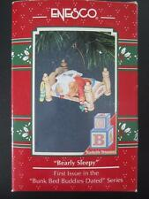 1992 Enesco Christmas Ornament Bearly Sleepy 1st First Issue Bunk Bed Series MIB