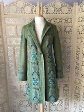 Fabulous! TWO TEN TEN FIVE Johnny Was Green/Blue Embroidered Coat- Size S