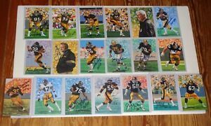 Pittsburgh Steelers Collection 19 Diff SIGNED Goal Line art Cards JSA PSA CSA