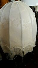 NEW victorian style fringed dome ivory damask  lampshade xl