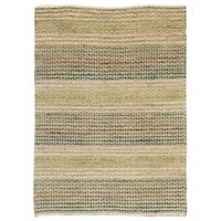 Natural Hemp & Seagrass with Green Modern Rustic look strong Rugs & Hall Runner