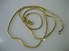 ESTATE VINTAGE 14K fj ITALY YELLOW GOLD SNAKE CHAIN NECKLACE