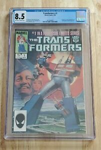 Transformers #1 CGC 8.5   First Autobots & the Decepticons, 1984 Marvel