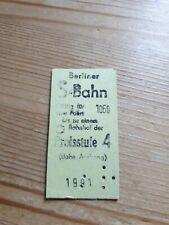 Alte Fahrkarte Berliner S Bahn Preisstufe 4