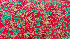 """christmas fabric multicoloured 100%cotton 46-59"""" PRICE PER 1/2 yard now reduced"""
