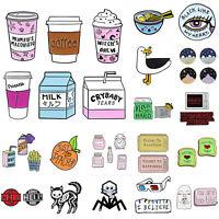 Cute Fashion Brooch Mug Clothes Badges Lapel Pins Clothing Decor Jewelry Gift