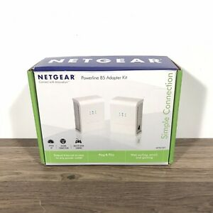 Netgear Powerline 85 Adapter Kit  Simple Connection - XETB1001 - 100NAS New