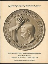 1966 NCAA Basketball Championship Program Kentucky/Texas Western Glory Road Rupp