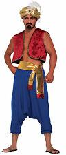 Men's Blue Genie Pants Aladdin Desert Prince Costume Accessory Size Standard