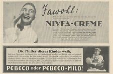 Y4877 Zahnpasta PEBECO - NIVEA Creme - Pubblicità d'epoca - 1927 Old advertising