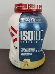 Dymatize Nutrition ISO 100 Whey Protein Powder Gourmet Vanilla 5 Lb 03/23 Dented