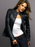Designer Leather Jackets Lambskin Celebrity Quilted Style For Women EHS W24