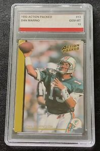 1992 Action Packed Dan Marino Rookie Update # 13 71 Noble Grading Gem Mint 10