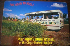 YANDINA, QLD - PARTINGTON'S MOTOR GARAGE, GINGER FACTORY VINTAGE 1980s POSTCARD