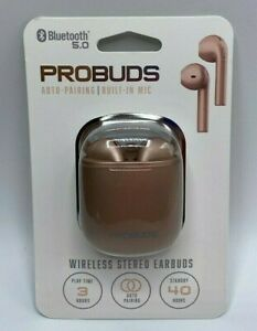 Bluetooth 5.0 ProBuds Wireless Stereo Earbuds Headphones In-Ear Design With Mic