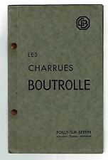 catalogue CHARRUE BOUTROLLE agricole vitivole POILLY SUR SEREIN
