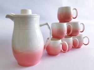 7pc Hand Painted Colour Gradients Symphony Tea Pot Water Jug Set