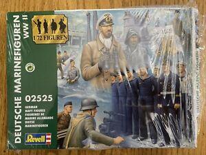REVELL DEUTSCHE MARINFIGUREN WWII GERMAN NAVY FIGURES Kit # 02525 1/72 Scale